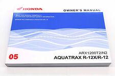 New Owners Manual Aquatrax 2005 ARX1200 N3T3 GPS 05 OEM Honda Operators Book N84