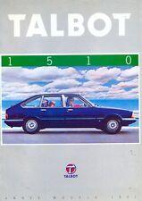 TALBOT 1510 (CHRYSLER) ALPINI 1981 francese delle vendite sul mercato opuscolo