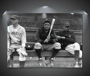 Babe Ruth Vintage Baseball Large Poster - A1, A2, A3, A4 sizes
