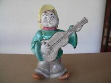 19cm LINZER-GMUNDNER KERAMIK? Banjospieler Gitarrespieler undeutlich gemarkt