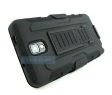 BLACK ADVANCE ARMOR RUGGED CASE COVER+CLIP HOLSTER FOR SAMSUNG GALAXY NOTE III 3