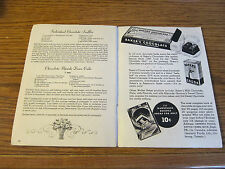 Baker's Chocolate Cookbook let 1938 Holiday Recipes Ad Velvet Cream, Frosting