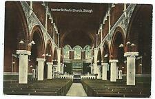 SLOUGH - ST PAUL'S CHURCH, INTERIOR Roe Postcard*