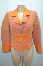 FILLE DU SUD VESTE BLAZER 36 S ORANGE JACKET CHAQUETA