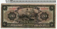 1934 March 7 - 20 Pesos Series H Banco de Mexico - Mexican Banknote