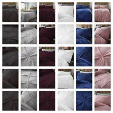 Teddy Fleece Pintuck Diamond style Duvet Cover Cozy Warm Winter Velvet Bedding