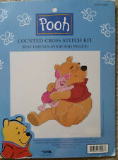 """Winnie the Pooh counted cross stitch """"Best Friends"""" kit Piglet baby"""