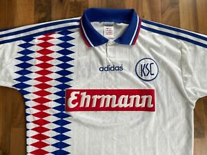 Karlsruher SC Trikot Gr. M Ehrmann adidas 1995/96 Dundee Häßler DFB Hertha VfL