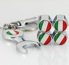 4pcs Auto Car Reifen Ventilkappen + Wrench schlüsselanhänger für Italien Italy