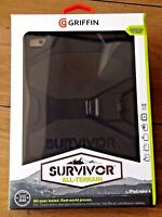 NEW GRIFFIN SURVIVOR IPAD MINI 4 TOUGH HARD RUGGED CASE COVER STAND BLACK UK