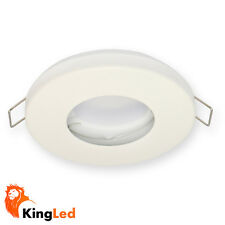 Porte luminaire encastré étanche Blanc IP65 Métal pour spots GU10 2235