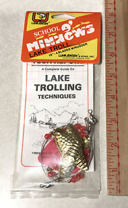 Luhr Jensen SCHOOL O' MINNOWS Lake Troll with Rudder COPPER GOLD NEW Vintage USA