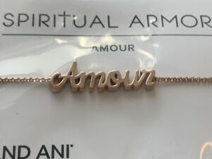 Alex and Ani AMOUR Spiritual Armor Chain Bracelet .925 Silver / 14kt Rose GP NWT