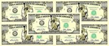 Lot of 5 - One Million Dollar Bills ($1,000,000)