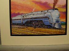 Santa Fe Blue Goose High Stepper  by artist Railroad Archives WE