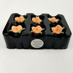 Princess House Floral Candle Pins NIB no box Pink Rose Set of 6