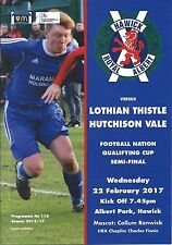 22 de febrero de 2017 Hawick Royal Albert V Lothian Cardo Hutchison Vale, qual Taza S-F