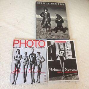 HELMUT NEWTON / 3 LIVRES/SPECIAL PHOTO-REPORTES SANS FRONTIERE-UN MONDE SANS H..