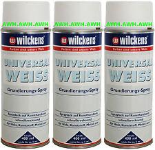 3x400ml Universal Grundierung Lackspray Grund Untergrund Spraylack Vorlack Weiß