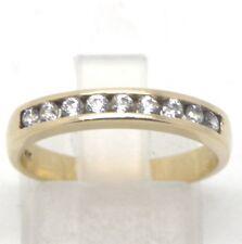 14k Yellow Gold Diamond Wedding/Anniversary Ring Band  Sz 6.5
