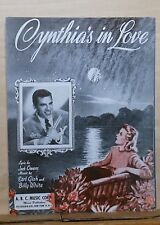 Cynthia's In Love - 1942 sheet music - Buddy Rich cover photo