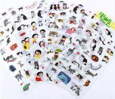 6 fogli di diario Gatto Decorazione Adesivo Carino Cartoon Adesivi Etichetta KAWAII #2