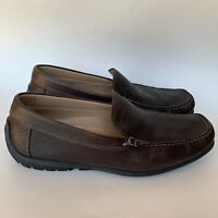 ECCO Driving Loafers Soft Brown Leather Casual Slip On  Men's Size 11