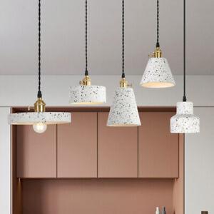 Modern Concrete Cement Shade Pendant Light Kitchen Island Hanging Ceiling Lamp