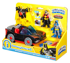 Batmobile Toy Fisher Price Imaginext DC Super Friends With Lights And Red Robin