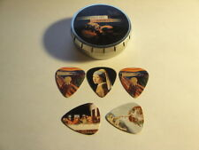 Renaissance Art Guitar Picks Cool 5 Pack  The Last Supper - The Scream etc $9.99