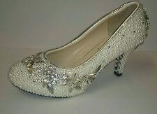 Pumps, Classics Bridal or Wedding Block Heels for Women