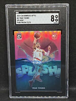 2019-20 Donruss Optic Trae Young #2 Splash! Pink Prizm 23/25 Hawks SGC 8