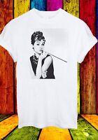 Audrey Hepburn Actress Breakfast at Tiffany's Actor Men Women Unisex T-shirt 87