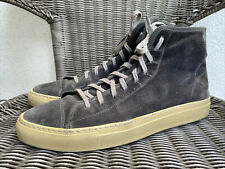 Common Projects Tournament Grey Suede High Top Sneakers 5132 Size 44 US 11 Italy
