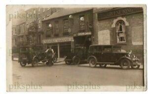OLD MOTOR CAR POSTCARD QUEEN'S GARAGE NEWNHAM ROAD CAMBRIDGE REAL PHOTO C.1930