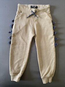 Toddler Boy Size 3-4 Years Next UK Tan Dinosaur Spike Pull On Jogger Pants