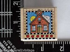 ABC Schoolhouse Wood Mounted Rubber Stamp Gently Used 1996 Hero Arts C1142
