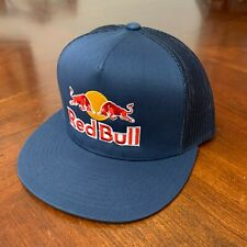 Red Bull Navy Blue Trucker Snapback Hat Cap