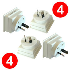 4 X UK to AU Australia Zealand Christmas Island Fiji Travel Plug Adapter