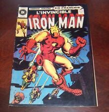 Editions Heritage Invincible Iron Man # 23 1972 French Edition Black White
