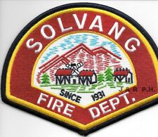"*NEW*  Solvang  Fire Dept. - 1931, California (5"" x 4"" size) fire patch"