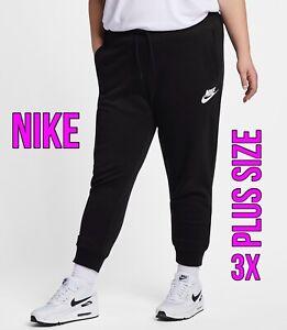 Nike Sportswear Rally PLUS SIZE Women's 3XL (Size 30-32) Black Fleece Bottoms