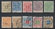 Denmark - 1907, 1 ore - 10k Newspaper stamps - G/U - SG N131/40