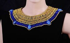 Pretty Egyptian Hand Made 7 Scarabs Cleopatra Necklace Halloween Costume SALE