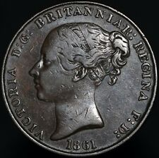 More details for 1861 | jersey victoria 1/13 of a shilling 'modified edge' | copper | km coins