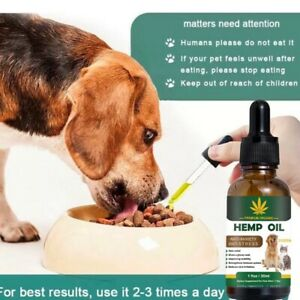 Hemp Oil For Dogs Pets Calming Anxiety Pain Relief