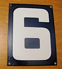 ORIGINAL PORCELAIN HOME STREET ADDRESS / GAS STATION NUMBER 6 or 9 SIGN ~  LOT I