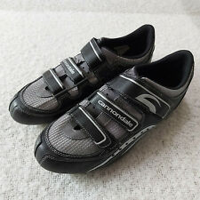 Cannondale Road Bike Cycling Shoes Sz EUR 45 US 11 Tri Straps Black Silver
