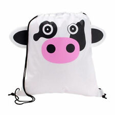Cow / Calf - Childrens Animal Draw String Backpack Sport Pack Tote Bag