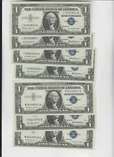 Silver Certificate $1 1935's or 1957's  STAR  ef-4 au 3   7 total notes  notes